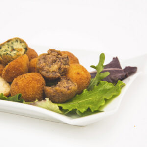 Bacon and dates croquettes
